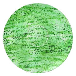 Fondo verde del Grunge Plato