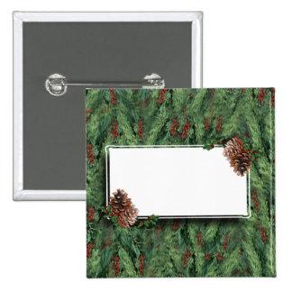 Fondo w/Tag del árbol de navidad Pins