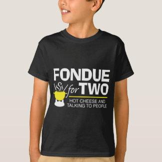 """""""fondue"""" para dos camiseta"""