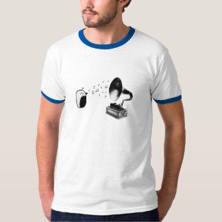Fonógrafo del pájaro camiseta