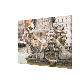 Fontana del Pantheon (1575) diseñó por Giacomo 2 Impresión En Lienzo