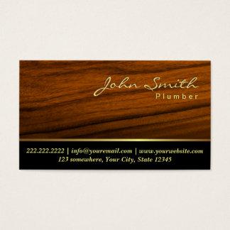 Fontanería profesional de madera elegante del tarjeta de visita