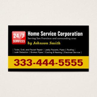 Fontanero - 24 Hours Home Service Corporation Tarjeta De Visita