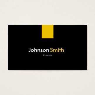 Fontanero - amarillo ambarino moderno tarjeta de negocios