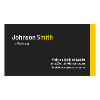 Fontanero - ámbar minimalista moderno tarjetas de visita