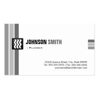 Fontanero - blanco negro creativo plantilla de tarjeta de negocio