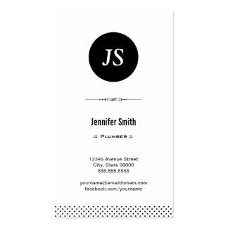 Fontanero - blanco negro limpio tarjeta de visita