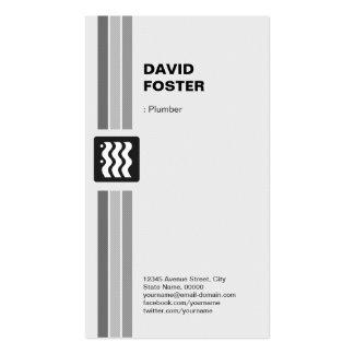 Fontanero - blanco negro moderno plantillas de tarjetas de visita