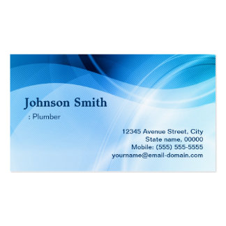Fontanero - creativo azul moderno tarjetas de visita