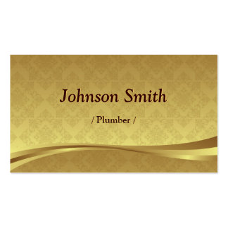 Fontanero - damasco elegante del oro tarjetas de visita
