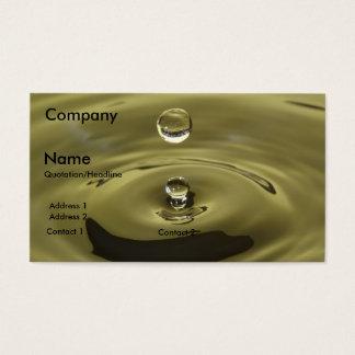 fontanero del descenso del agua tarjeta de negocios