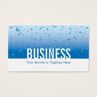 Fontanero del fondo del agua del servicio de la tarjeta de negocios