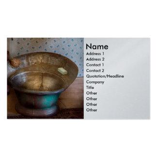 Fontanero - día del baño tarjetas de visita