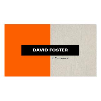 Fontanero - elegante elegante simple tarjetas de visita