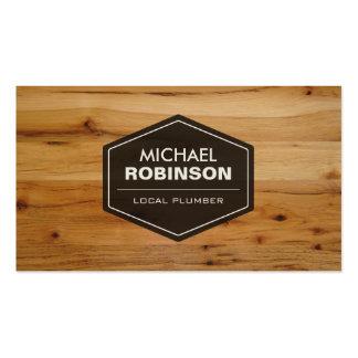Fontanero local - mirada de madera moderna del plantillas de tarjeta de negocio