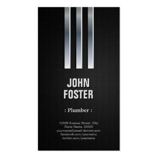 Fontanero - mirada de acero del metal plantilla de tarjeta personal