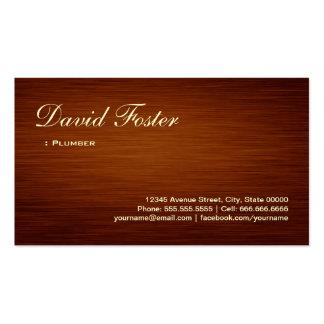 Fontanero - mirada de madera del grano tarjetas de visita