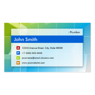 Fontanero - multiusos moderno tarjetas de visita