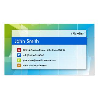 Fontanero - multiusos moderno plantilla de tarjeta de negocio
