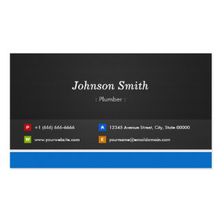 Fontanero - personalizable profesional tarjetas de visita