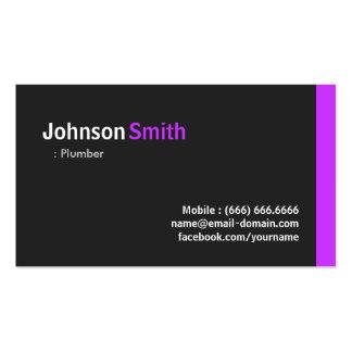 Fontanero - púrpura mínima moderna tarjetas de visita