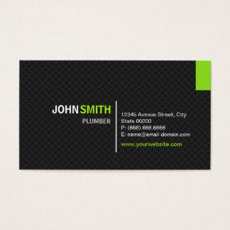 Fontanero - rejilla moderna de la tela cruzada tarjeta de negocios