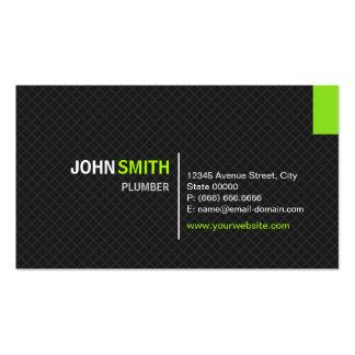 Fontanero - rejilla moderna de la tela cruzada tarjetas de visita