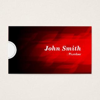 Fontanero - rojo oscuro moderno tarjeta de negocios