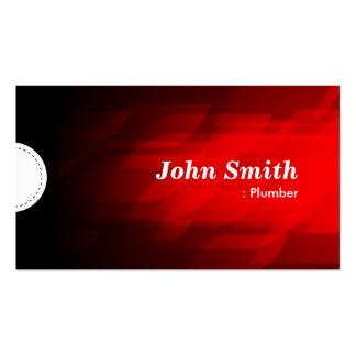 Fontanero - rojo oscuro moderno tarjetas de visita