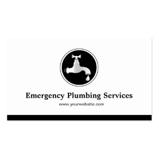 Fontanero - servicios de la fontanería de la emerg plantilla de tarjeta de visita