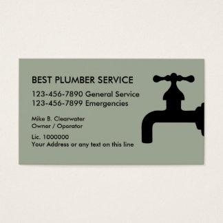 Fontanero simple tarjeta de visita