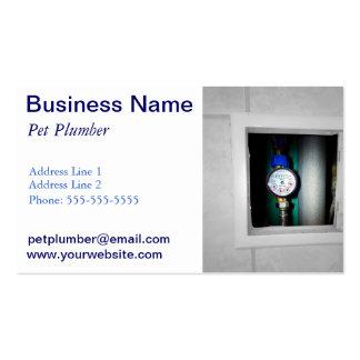 fontanero plantilla de tarjeta personal