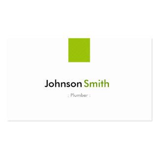 Fontanero - verde menta simple plantilla de tarjeta personal