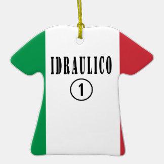 Fontaneros italianos: Uno de Idraulico Numero Adorno De Cerámica En Forma De Camiseta