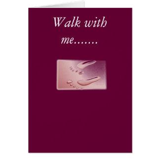 footprints2, paseo conmigo ....... tarjeta de felicitación
