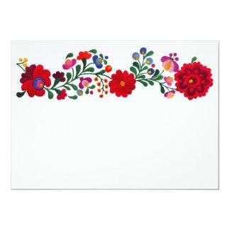 Foral Mexican Design Card Invitación 12,7 X 17,8 Cm