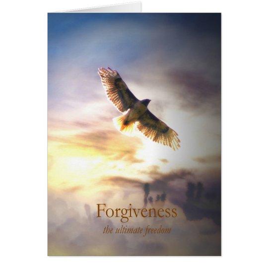 Forgivness para curar, holístico metafísico tarjeta de felicitación