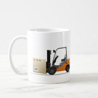 Fork ascensor truck taza de café