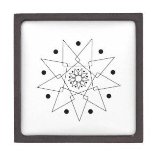 Forma abstracta blanco y negro caja de regalo