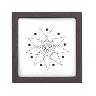 Forma abstracta blanco y negro joyero