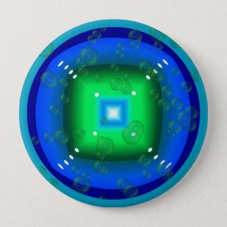 Forma Azulado-Verde geométrica con el botón de las