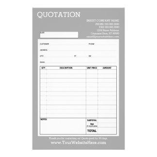 Forma - cita o factura del negocio - gris clara folleto 14 x 21,6 cm