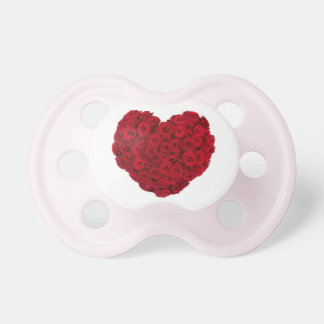 Forma color de rosa del corazón chupete