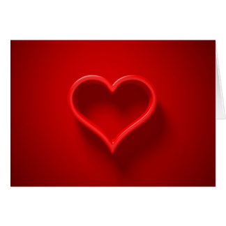 forma de cardíaco con luz y sombra postal