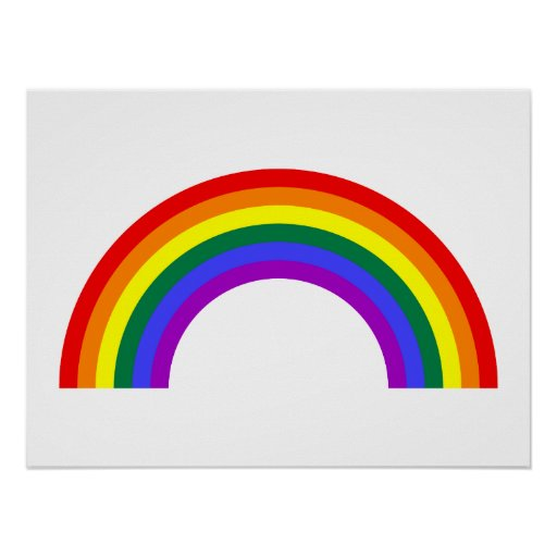 Forma del arco iris impresiones