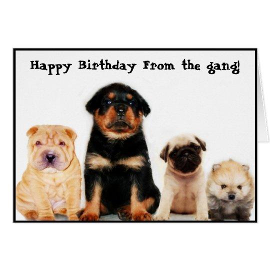 Forma del feliz cumpleaños la tarjeta de