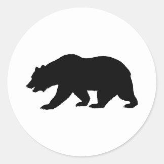 Forma del oso etiqueta redonda