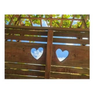 Forma en una cerca, Belice del corazón Postal