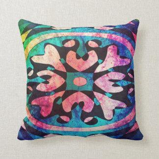 Forma geométrica en almohada de tiro colorida de