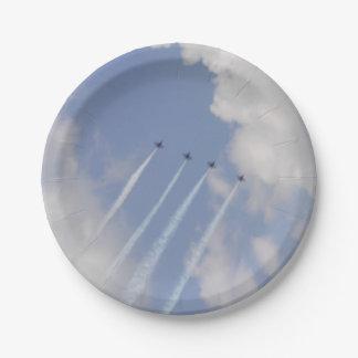 Formación de jet militar de Airshow Plato De Papel